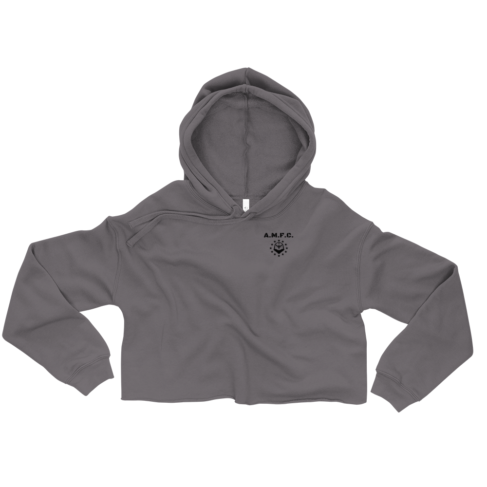 A.M.F.C. Comfort Cropped Hoodie (Storm)