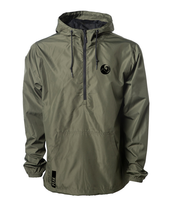 Peak Athleisure Daily 3/4 zip Windbreaker (Army Green)