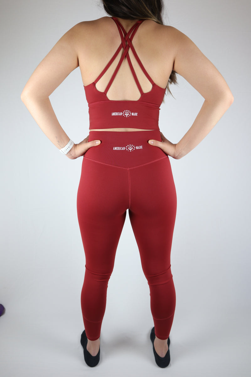 American Fitness Culture Freedom Top (Crimson)