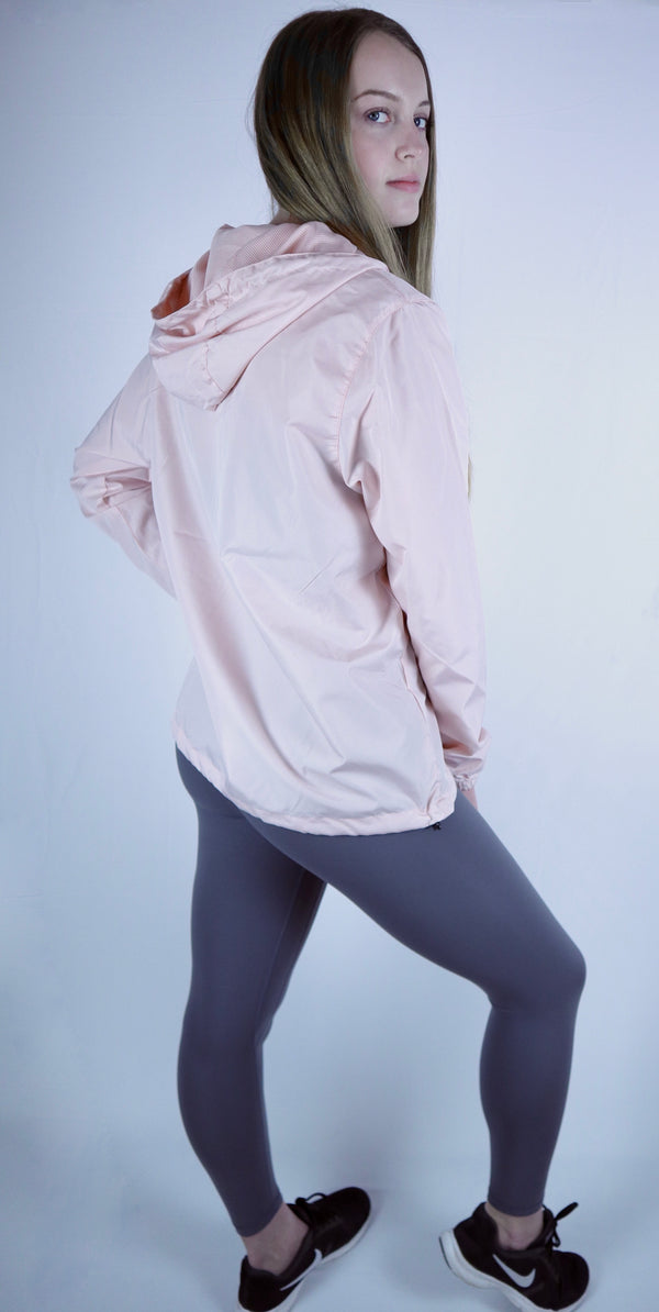 Daily 3/4 zip Windbreaker (Blush)
