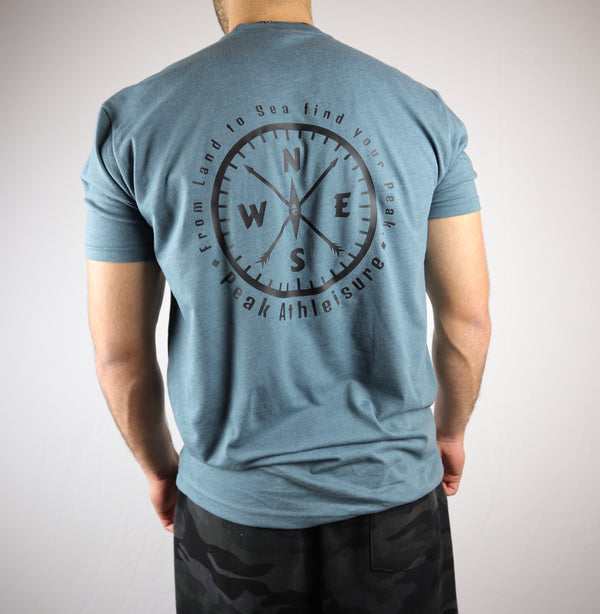 Seek Adventure Tee (Steel Blue) back
