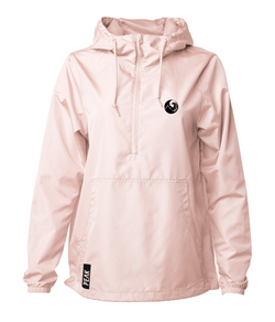 Daily 3/4 zip Windbreaker (Light Pink)