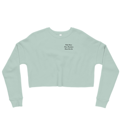 Peak Athleisure Cropped Crew (Mint Cream)