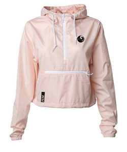 Peak Athleisure Daily Cropped Windbreaker  (Light Pink)