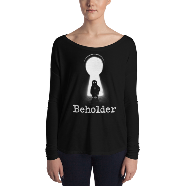 Carl in a Keyhole - Ladies' Long Sleeve Tee
