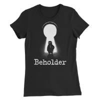 Carl in a Keyhole - Women's Slim Fit T-Shirt