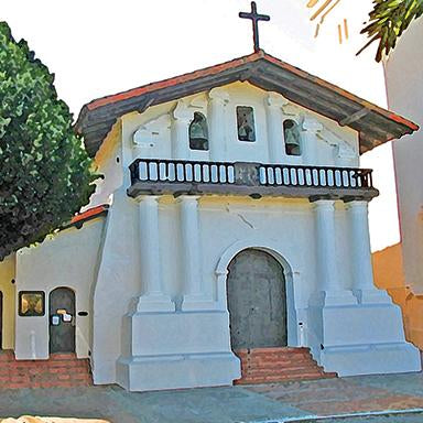 Original art, souvenir & collectible products celebrating the history of Mission San Francisco de Asis (Dolores).