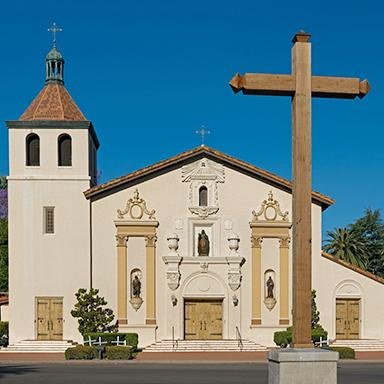 Original art, souvenir & collectible products celebrating the history of Mission Santa Clara de Asis (Santa Clara).