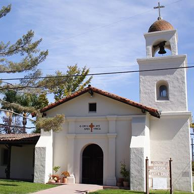 Original art, souvenir & collectible products celebrating the history of Mission Santa Cruz.
