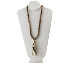 Load image into Gallery viewer, Hampton Animal Print Tassel Necklace