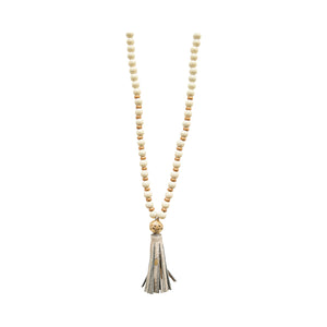 Hampton Animal Print Tassel Necklace