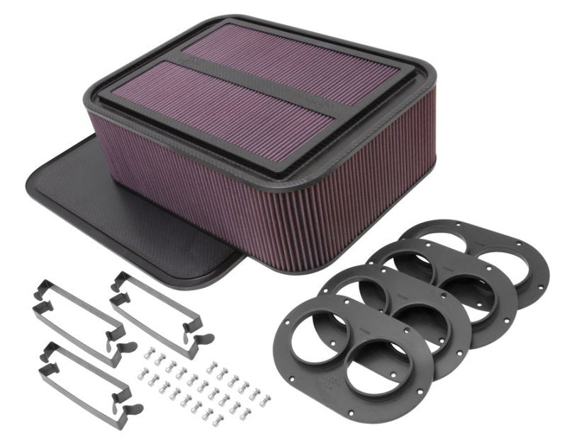 K&N Custom Racing Assembly Generation 2 Carbon Fiber Air Box - Large w/ 2.75in Air Horn