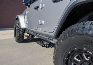 N-Fab RKR Rails 2018 Jeep Wrangler JL 4 Door Dab Length - Gloss Black - 1.75in
