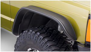 Bushwacker 84-01 Jeep Cherokee Flat Style Flares 4pc - Black
