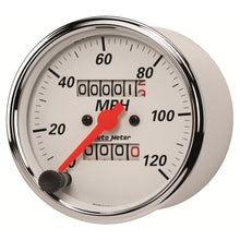 Load image into Gallery viewer, Autometer Arctic White 3-1/8in 0-120 MPH Mechanical Speedometer Gauge