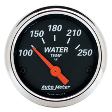 Load image into Gallery viewer, Autometer Designer Black 2 1/16in 250 Deg F Electronic Water Temp Gauge