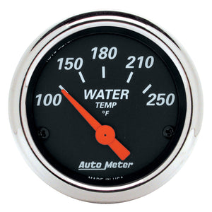 Autometer Designer Black 2 1/16in 250 Deg F Electronic Water Temp Gauge