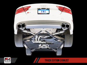 AWE Tuning Audi C7 / C7.5 S7 4.0T Track Edition Exhaust - Chrome Silver Tips