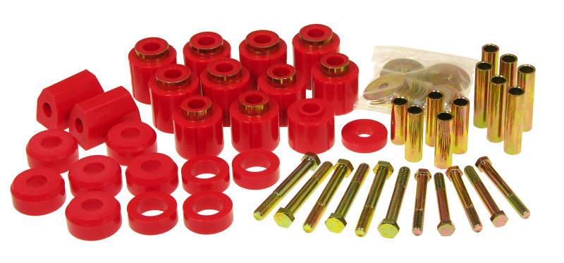 Prothane 87-96 Jeep YJ 1in Lift Body Mount Kit - Red