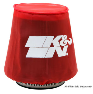 K&N Kawasaki / Yamaha / Sea Doo / Polaris Red Round Tapered Drycharger Filter Wrap 3in x4.5inx4in