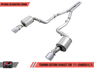 AWE Tuning 2017+ Dodge Charger 5.7L Track Edition Exhaust - Chrome Silver Tips