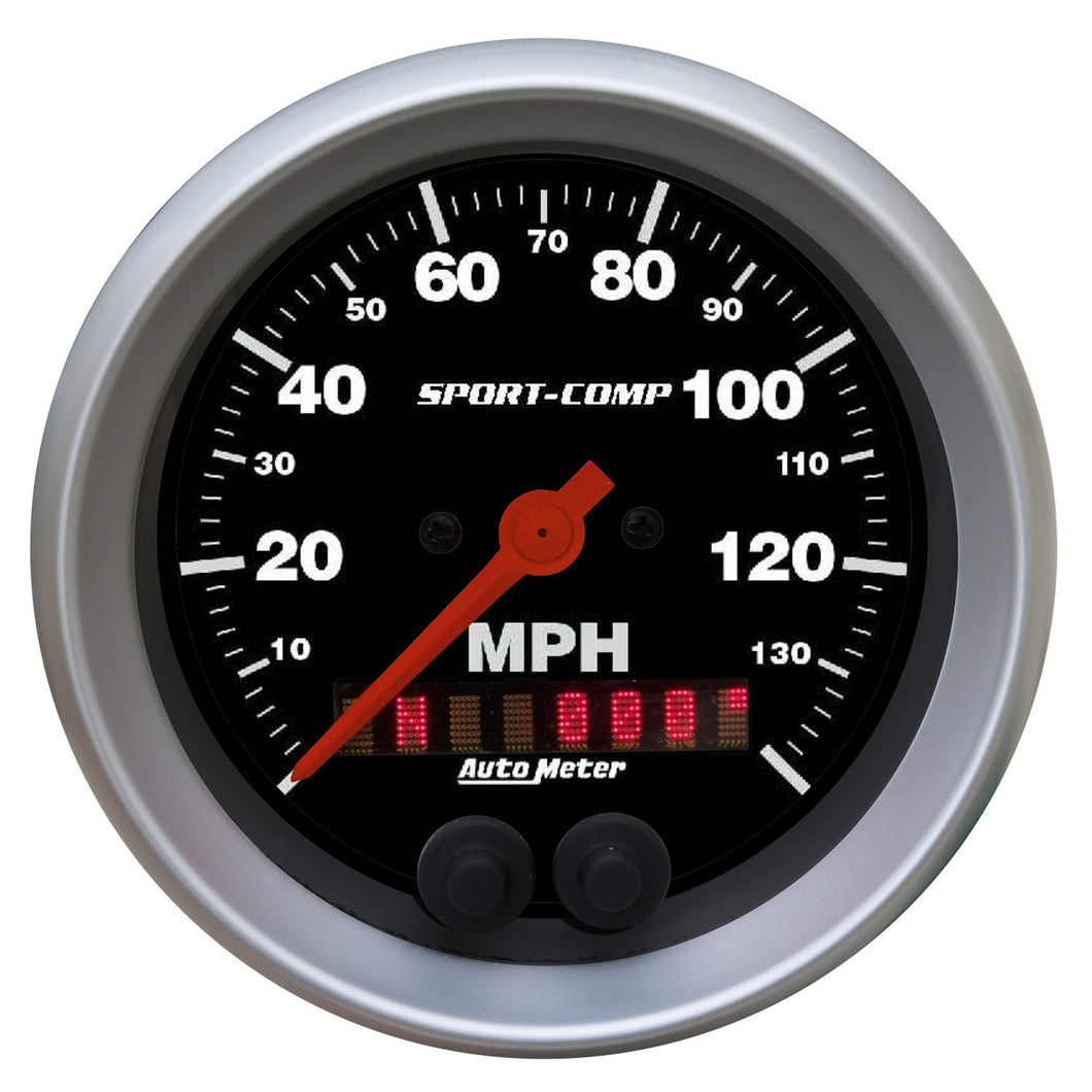 Autometer Sport-Comp 3-3/8 inch 140 MPH Electronic Speedometer w/ GPS Rally Nav Display Gauge