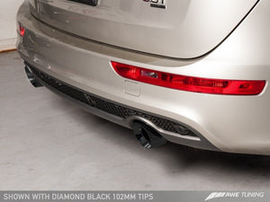 AWE Tuning Audi 8R Q5 3.0T Touring Edition Exhaust Dual Outlet Diamond Black Tips
