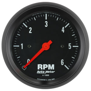 Autometer Z-Series 3-3/8in. 0-6K RPM In-Dash Tachometer Gauge