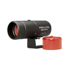 Autometer Pro-Lite Warning Light *SWITCH REQUIRED*  (black case, red lens, red night cover)