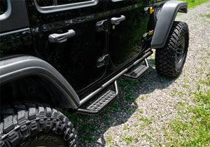 N-Fab RS Nerf Step 07-18 Jeep Wrangler JK 4DR - Full Length - Tex. Black