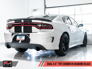 AWE Tuning 2017+ Dodge Charger 5.7L Track Edition Exhaust - Diamond Black Tips