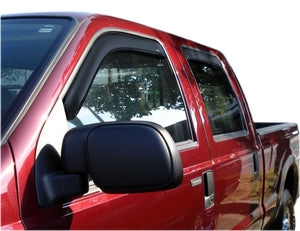AVS 99-16 Ford F-250 Supercrew Ventvisor In-Channel Front & Rear Window Deflectors 4pc - Smoke