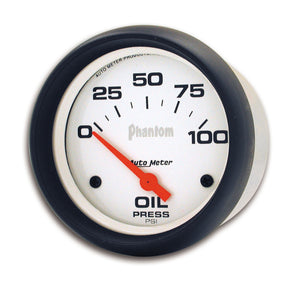 Autometer Phantom 66.7mm 0-100 PSI SSE Oil Pressure Gauge