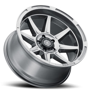 ICON Bandit 20x10 5x150 -24mm 4.5in BS 110.10mm Bore Gun Metal Wheel