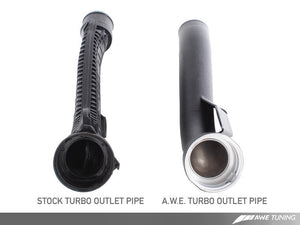 AWE Tuning TSI Turbo Outlet Pipe - Black Finish