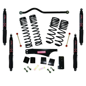 Skyjacker 2007-2018 Jeep Wrangler JK 2 Door 4WD Long Travel 3.5in-4in Lift Kit w/Black Max Shocks