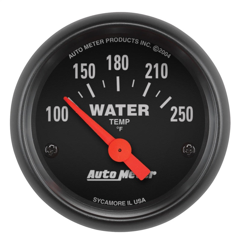 Autometer Z-Series 52mm 100-250 Degrees F. SSE Water Temp Gauge