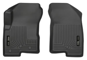 Husky Liners 07-12 Dodge Caliber / 07-12 Jeep Compass WeatherBeater Front Row Black Floor Liners