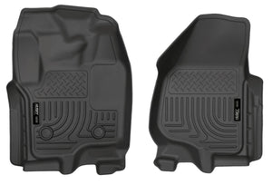 Husky Liners 12-15 Ford Super Duty Crew & Extended Cab WeatherBeater Front Row Black Floor Liners