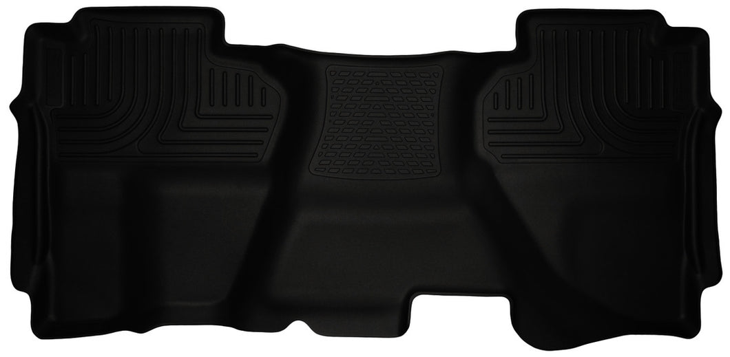 Husky Liners 07-13 Chevrolet Silverado 1500 Ext Cab WeatherBeater Black 2nd Seat Floor Liners