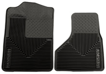 Load image into Gallery viewer, Husky Liners 08-10 Ford F-250/F-350/F-450 SuperDuty Heavy Duty Black Front Floor Mats