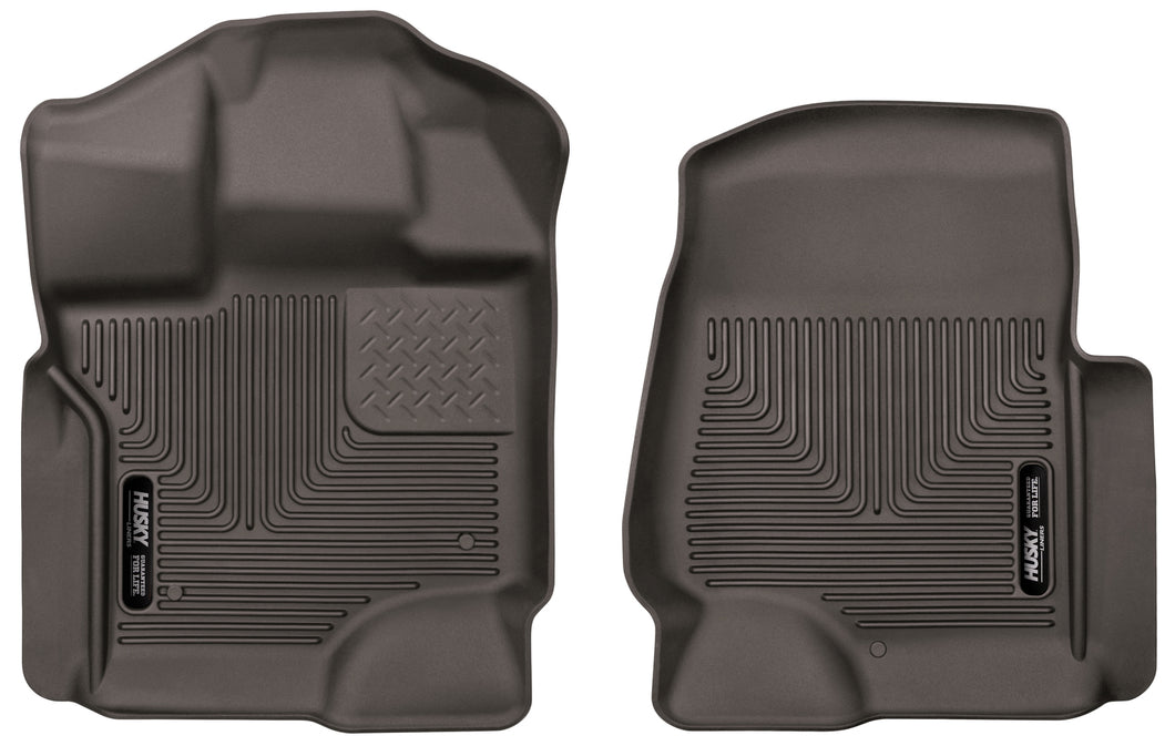 Husky Liners 15-17 Ford F-150 SuperCrew Cab X-Act Contour Cocoa Front Floor Liners