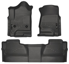Load image into Gallery viewer, Husky Liners 14 Chevrolet Silverado/GMC Sierra WeatherBeater Black Front & 2nd Seat Floor Liners