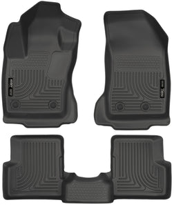 Husky Liners 2015 Jeep Renegade Weatherbeater Black Front and Second Row Floor Liners