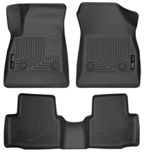 Load image into Gallery viewer, Husky Liners 2016-2017 Chevrolet Cruze WeatherBeater Combo Floor Liners - Black