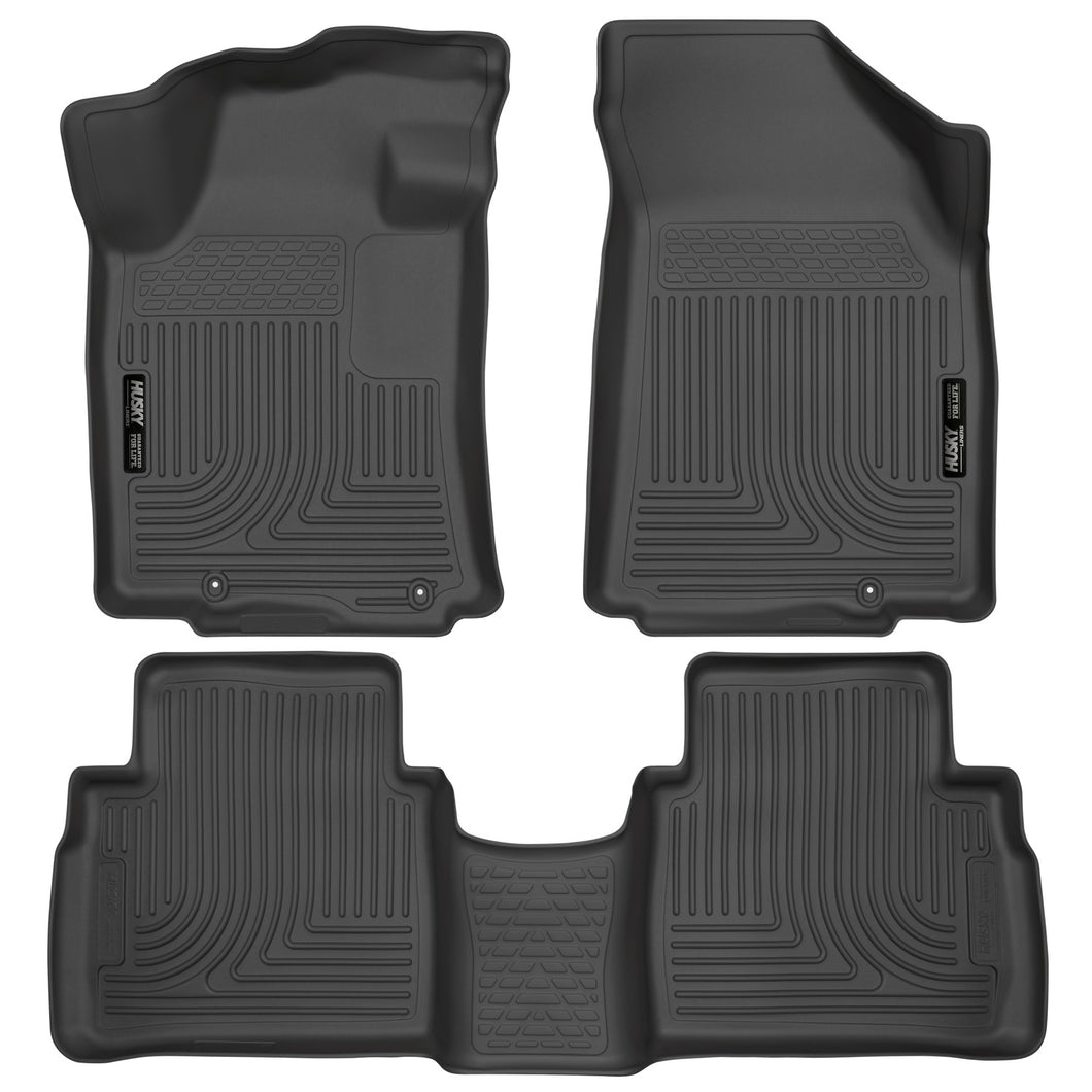 Husky Liners 2016 Nissan Maxima WeatherBeater Front and Second Row Black Floor Liners