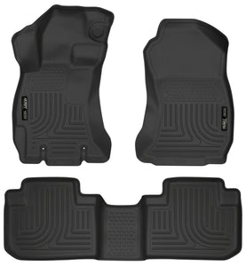 Husky Liners 14 Subaru Forester Weatherbeater Black Front & 2nd Seat Floor Liners