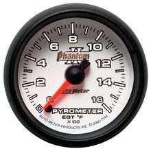 Load image into Gallery viewer, Autometer Phantom II 52.4mm Full Sweep Electronic 0-1600 Def F EGT/Pyrometer Gauge