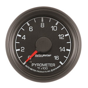 Autometer Factory Match Ford 52.4mm Full Sweep Electronic 0-1600 Deg F EGT/Pyrometer Gauge