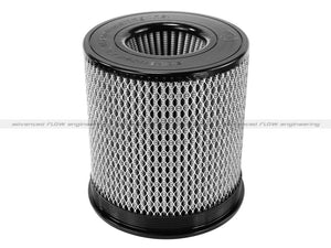 aFe MagnumFLOW Air Filter Pro DRY S 6in Flange x 8 1/8in Base/Top (INV) x 9in H